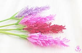 Pattern For Paper Flower How To Make Paper Lavender Flowers Kids Craft Room