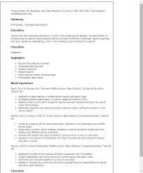 Resume Templates: Special Education Teacher Aide