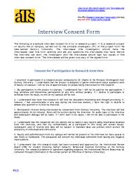 Research Informed Consent Form And Process