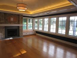 tray ceiling lighting. sunroom with stone fireplace tray ceiling led lighting leather finishes wide transitional h