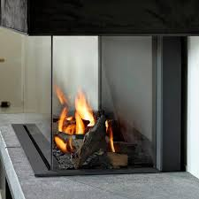 gas fireplace insert 3 sided remote controlled tulp