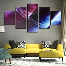 5 Cascade Night Sky Interstellar Space Globe Canvas Wall Painting Picture  Home Decoration No Framedmodern Family