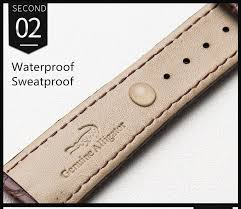 hot deal us 28 57 for watchband 12mm 14mm 16mm 18mm 20mm 22mm 24mm alligator full grain crocodile grain genuine leather bands black brown watch strap