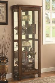 great coaster 950188 curio cabinets 5 shelf with warm brown finish intended for curio furniture decor