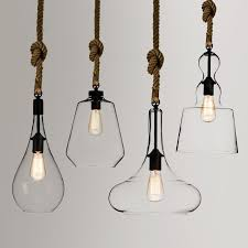 used pendant lighting. Used Singly Or In Multiple, These Chic Glass \u0026 Hemp Rope Pendant Lights Will Be Lighting