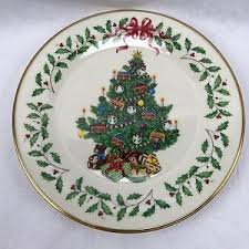 Lenox Holiday Annual Christmas Plate At Replacements LtdLenox Christmas Tree Plates