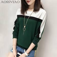 AOSSVIAO <b>2019 Autumn Winter Long</b> Sleeve T shirt Women Tops ...