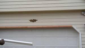 2017 craftsman garage door jamb trim diy quietest installing aluminum casings covering over wood garage door