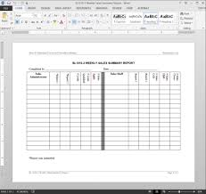 001 Template Ideas Sl1010 Weekly Sales Reports Surprising