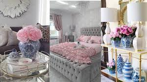 blush pink grey glamorous luxury