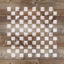 Checker Pattern Fascinating Checkerboard Stencil For Crafts Walls Stencil Revolution