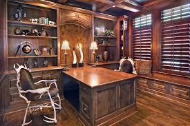 dual office desk. DualofficedeskHomeOfficeTraditionalwithantlerchairsbookshelvesbuilt Beeyoutifullifecom Dual Office Desk P