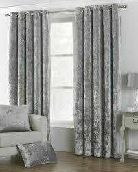 lined eyelet curtains silver