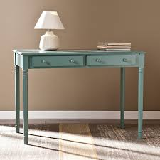 com southern enterprises janice 2 drawer writing desk in agate green toys