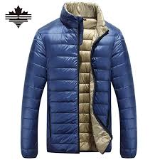 mens jacket jacket casual duck down ultralight s autumn winter men lightweight overcoats clothing stand collar