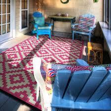 pixel outdoor rug in pink by nuastyle