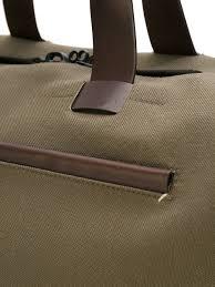 troubadour fabric leather weekender green brown women bags luggage troubadour für gott