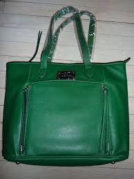 joy mangano textured faux leather emerald green tablet tote 38 59