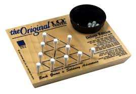 Wooden Triangle Peg Game Amazon Channel Craft Classic Challenging Handcrafted Wooden 92