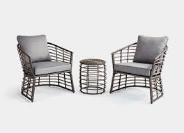 Black and white patio furniture Indoor Outdoor Chat Sets Outdoor Sofa Serenity Health Patio Furniture At Home