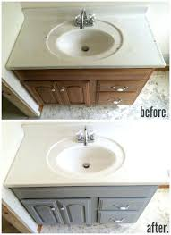 painted bathroom countertops refinished laminate