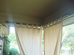paint pvc pipe black for outdoor curtain rod a slot was cut into outdoor patio curtains