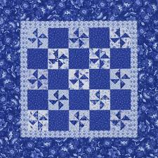 Blue-and-White Pinwheels | AllPeopleQuilt.com &  Adamdwight.com
