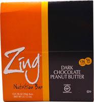 zing bars whey protein bar dark chocolate peanut er 12 bars