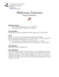 Prepossessing Phlebotomy Resume Objectives In Phlebotomist Resume