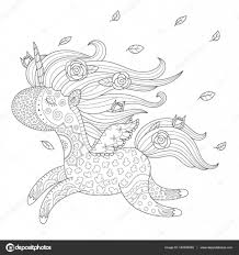 Unicorn Kleurplaat Stockvector Natalie Art 140526448