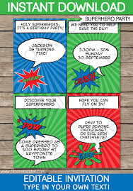 superheroes party invites super hero party invitations template superhero birthday