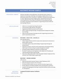 14 Unique Cnc Machine Operator Resume Sample Resume Sample