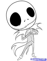 Jack Skellington From Nightmare Before Christmas Coloring Page Pages