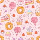 Pastry Fabric Wallpaper Gift Wrap Spoonflower