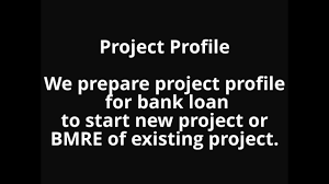Project Profile Feasibility Report Preparation For Bank Loan