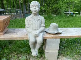 black fishing boy concrete garden statue designs
