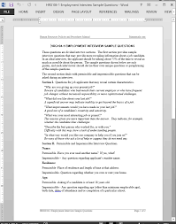 job interview template job interview questions template