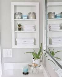 built in bathroom wall storage. Fine Bathroom Recessed Shelves With A Frame To Built In Bathroom Wall Storage O