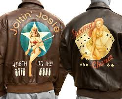 authentic pin up er jackets drop top style
