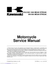 kawasaki vn1500 mean streak manuals