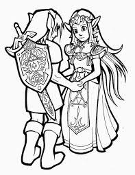Zelda 67 Jeux Vid Os Coloriages Imprimer