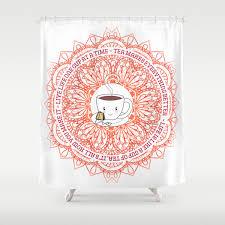 Cute Tea Lover Mandala With Tea Quotes Shower Curtain