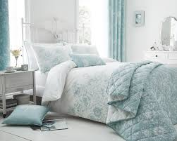 sentinel fl border design duck egg bedding duvet cover set single double king