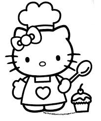 Hello Kitty Cupcake Coloring Pages At Getdrawingscom Free For