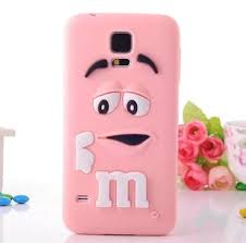 samsung galaxy s5 cute phone cases. 3d cute m\u0026m bean lovely silicone case for samsung galaxy s5 s6 note 3 4 5 phone cases