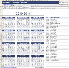 Free Calendar Template Vertex Holidays And Key Dates