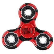 Toys com Diamonds Plastic Amazon black Games Tri-fidget Spinner Text amp; Harley Quinn - Red