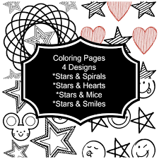 Small Picture Instant Download Coloring Pages Printable for Kids Activity