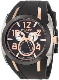 mulco watches all products watches for mulco mw1 17186 025 fashion analog black silicone unisex watch