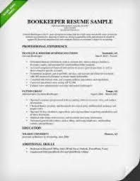 resume cover letter examples bookkeeper bookkeeper resume examples